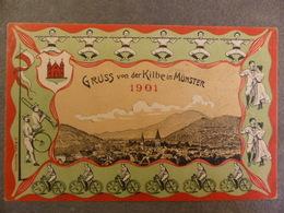 GRUSS VON DER KILBE IN MUNSTER 1901 - Munster