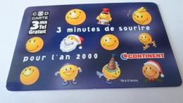 TELECARTES    CONTINENT 3 MINUTES  DE SOURIRE  NEUVE   ******  RARE   A   SAISIR ****** - Phonecards