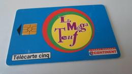 TELECARTES    CONTINENT LA MEGA TEUF  ******  RARE   A   SAISIR ****** - Télécartes