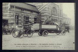 Les Soldats Allemands à Bruxelles Devant La Gare De Schaerbeek - Bruxelles-ville