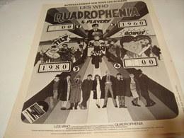 ANCIENNE PUBLICITE AFFICHE LES WHO PRESENTE QUADROPHENIA  1979 - Photography