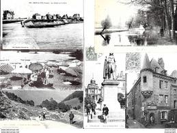 Lot De 60 Cartes Postales Anciennes En Bon état Avec Des Animées. - Cartes Postales