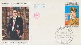 Enveloppe  FDC  1er  Jour   REPUBLIQUE  CENTRAFRICAINE    GENERAL  DE   GAULLE      1971 - De Gaulle (Général)