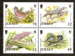 Jersey  2004  Yvertn° 1170-1173 *** MNH Faune Flore Divers WWF - Jersey