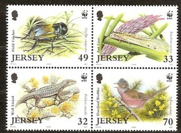 Jersey  2004  Yvertn° 1170-1173 *** MNH Cote 9 Euro Faune Flore Divers WWF - Jersey