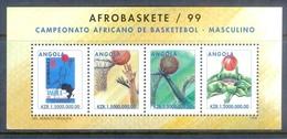 K57- Angola 1999. Basketball Miniature Sheet. - Basketball