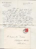 Denmark S. G. STEFÁNSON Kgl. Translatør I Russisk & Amtsforvalter Brotype IIc VARDE Cover Brief Karavelle (2 Scans) - 1913-47 (Christian X)