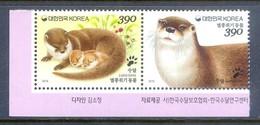 K61- Korea 2016 Corea Mammals Otter Wildlife Mamíferos Nutria Säugetiere. - Stamps