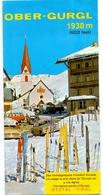 Brochure Dépliant Faltblatt Toerisme Tourisme - Hochgurl - Ober Gurl - Ötztal Tirol - Ca 1960 - Ski - Dépliants Touristiques
