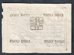 1à Repubblica Romana Assegnati 1798 10 Paoli ( Retro Quadrato ) Dell'anno 7  Sup Lotto.2241 - [ 1] …-1946 : Kingdom
