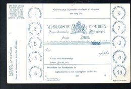 Nederland Postwissel (ALS POSTKAART) ± 1900 (k58-46) - Francobolli (rappresentazioni)