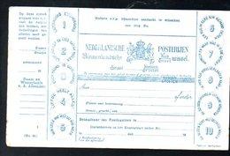 Nederland Postwissel (ALS POSTKAART) ± 1900 (k58-46a) - Postzegels (afbeeldingen)