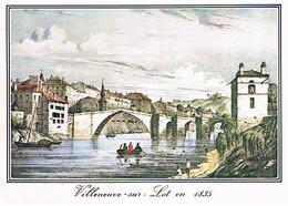 47 VILLENEUVE  SUR  LOT  VIELLES  GRAVURES    EN  1835  CPM    T32 - Villeneuve Sur Lot