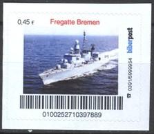Biber Post Fregatte Bremen (War Ship) (45)  G418 - BRD