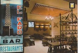18 / 8 / 188. -CADIZ ( ANDALOUSIA ) BAR  RESTAURANTE.  EL. FARO - Cádiz