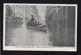 75 Paris Inondé 1910 / Canot Automobile Rue De L'Université - Inondations De 1910