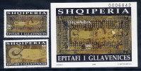 ALBANIA 1998 Shroud Of Glavanica Set Of 2 + Block MNH / **.  Michel 2666-67, Block 115 - Albania