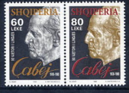 ALBANIA 1998 Cabej Commemoration Set Of 2  MNH / **.  Michel 2658-59 - Albania