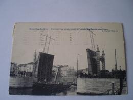 Bruxelles - Laeken // Le Nouveau Pont Ouvert !~a L'entree Du Bassin Maritime // Used 1907 - Laeken