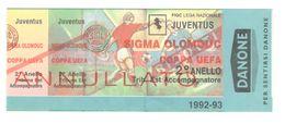 JUVENTUS Vs SIGMA OLOMOUC - BIGLIETTO STADIO - STADIUM TICKET - CALCIO - SOCCER - FOOTBALL - FOOT-BALL - FÚTBOL - Soccer