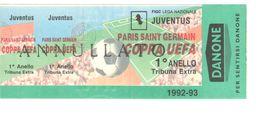 JUVENTUS Vs PARIS SAINT GERMAIN - BIGLIETTO STADIO - STADIUM TICKET - CALCIO - SOCCER - FOOTBALL - FOOT-BALL - FÚTBOL - Soccer