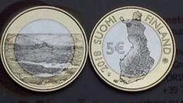 Finland     2018     5 Euro Munt  Landschappen-paysages  Pallastunturi   UNC - Finlandia