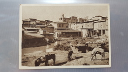 Russian Asia - Old Soviet  Postcard  - Tashkent  - Old City Makhalya-Maslyak  - 1930s -  - Animated - Horse - Uzbekistan