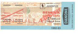 JUVENTUS Vs BENFICA - BIGLIETTO STADIO - STADIUM TICKET - CALCIO - SOCCER - FOOTBALL - FOOT-BALL - FÚTBOL - Soccer