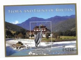 Bhutan 2014 Birds White Bellied Heron S/S MNH - Bhoutan