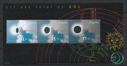 Angola 2002 Eclipse Totale De Soleil Bloc 3 Timbres 2002 Total Solar Eclipse Total Do Sol (YT B 104 Mi B 102) - Astronomie