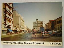 CP Cyprus Chypre  LIMASSOL -  Gregory Afxentiou Square , Voitures Camion Et Autocar - Chypre