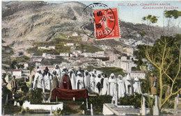 ALGER - Cimetière Arabe - Cérémonie Funèbre - Cachet Perlé De St Denis En Bugey (Ain)     (108943) - Alger