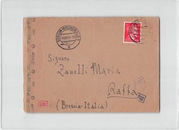 15453 ITALIENISCH 3/ARB.BATL. L 15 BERLIN SCONENBERG TO RAFFA  BRESCIA - CENSOR - Storia Postale