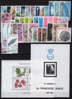 Monaco 1983 Annata Quasi Completa /Almost Complete Year Set **/MNH VF - Annate Complete