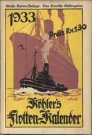 Köhlers Flotten-Kalender 1933 - 264 Seiten Mit Vielen Abbildungen - Ein Gemälde Von Robert Schmidt - Kalender