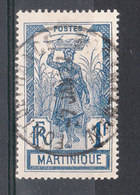 MARTINIQUE YT 104  Oblitéré FORT DE FRANCE 7 JUIN 1927 - Martinique (1886-1947)