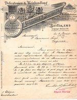 ALLEMAGNE BERLIN FACTURE ILLUSTREE DU 21 FEVRIER 1896 LINSTEDT & SAUBERLICH POUR MMS SAUVION & CIE COGNAC - Allemagne