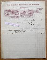Les Grandes Brasseries Du Hainaut, Rue De Cuesmes, Jemappes & Rue De Bertaimont, Mons 1918 - Belgium