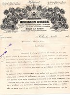ALLEMAGNE KOLN FACTURE ILLUSTREE DU 09/08/1919 HERMANN STIBBE A KOLN POUR MMS I SAUVION & CIE COGNAC - Allemagne