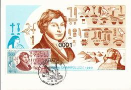 1740 Champollion 04/09/1990 - Cartes-Maximum (CM)