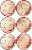 Estland  2018   1-2-5 Cent (miniset)  Deze 3 Muntjes Komen Uit De Rol    UNC Du Rouleaux  !!!!! - Estonia