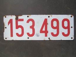 Ancienne Plaque Emaillee Immatriculation Oblitération Tampon Belgique Belgie - Plaques D'immatriculation