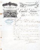 LOOS / PARIS / SAINTES FACTURE ILLUSTREE DU 14/11/1889 EMILE LAINE A SAINTES POUR MMS J SORIN & CO AU MORTIER SAUJON - Alimentaire