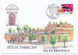 3 Cartes Locales - Fête Du Timbre AIX En PROVENCE 2009 - 28.2.2009 - Lettres & Documents