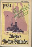 Köhlers Flotten-Kalender 1931 - 328 Seiten Mit Vielen Abbildungen - Kalender