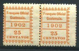 GUATEMALA ( SERVICE ) : Y&T  N° 5 X 2  TIMBRES  NEUFS  AVEC  TRACE  DE  CHARNIERE . - Guatemala