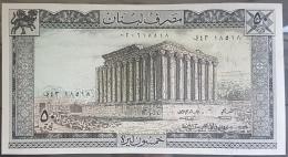 MA - Lebanon 1973 Banknote 50 Liras - UNC - Radar Number 18 5 18 - Lebanon
