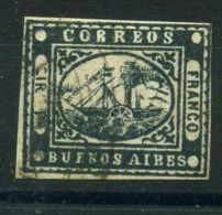 """ARGENTINE (  BUENOS AIRES ) : Y&T  N°  1  ?  """"  FAUX  """"  TIMBRE  OBLITERE . - Buenos Aires (1858-1864)"""