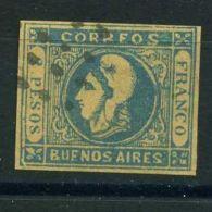 "ARGENTINE (  BUENOS AIRES ) : Y&T  N°  16  ""  FAUX  ""  TIMBRE  OBLITERE , CLAIR  DE  CHARNIERE . - Buenos Aires (1858-1864)"