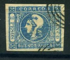 """ARGENTINE (  BUENOS AIRES ) : Y&T  N°  16  """"  FAUX  """"  TIMBRE  OBLITERE . - Buenos Aires (1858-1864)"""